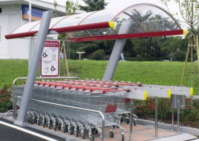 SUPER shopping trolley shelter
