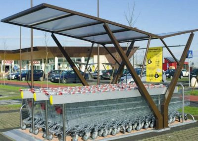 VELA shopping trolley shelter